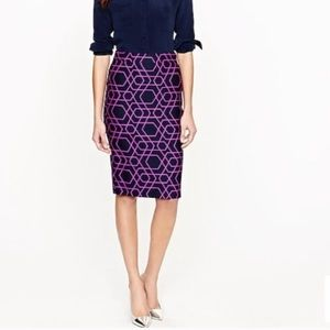 J. Crew The Pencil Skirt in Geometric Print